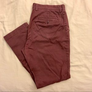Men's J. Crew Urban Slim Burgundy Pants